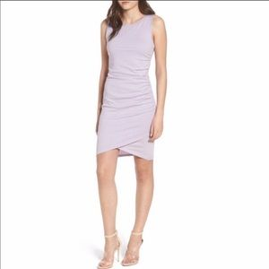 LEITH XL ruched body con dress lilac purple